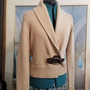 Ralph Lauren Buckle Front Sweater size Small